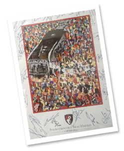 Limited Edition AFC Bournemouth Art by Cameron Hope